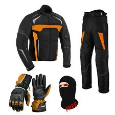 Motorbike Motorcycle Jacket Waterproof Riding Pant Trouser Suit & Leather Glove