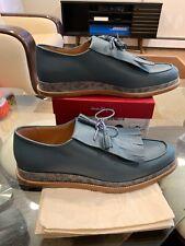 New Salvatore Ferragamo Nikos Runway Kiltie-Tassel Loafers Leather Shoes Size11D