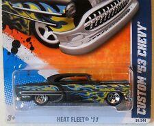2011 Hot Wheels #91 HEAT FLEET * CUSTOM '53 CHEVY * BLACK KMART EXCLUSIVE COLOR