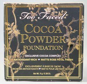 TOO FACED Cocoa Powder Foundation Matte Rose Petal - MEDIUM - .038 oz 11g - NEW