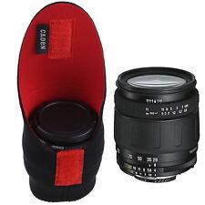 Neoprene DSLR Camera Lens Soft Protector Pouch Bag Case Cover Bag Set Black+Red