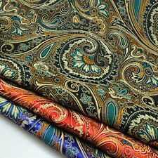 1m Floral Damask Jacquard Brocade Fabric DIY Material Cloth Sewing Costume Decor