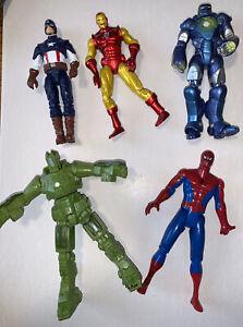 "Marvel Universe Iron-Man 2, ToyBiz Spider-Man & Captain America 3.75"" Figures"
