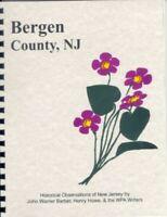 Bergen County New Jersey 1847 Barber history RP Hackensack Palisades NJ Reprint