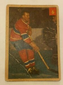 1954-55 Parkhurst #6 Butch Bouchard Montreal Canadiens - F