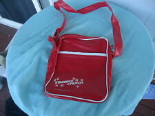 vintage retro starsky & hutch red & white vinyl shoulder bag