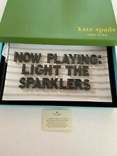 Kate Spade Now Playing Light The Sparkles Crystal Rectangular Tray New In Box
