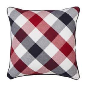 """Holiday Woven Plaid Square Throw Pillows 18"""" x18"""" - Threshold Pack of 2"""