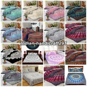 New Mandala Queen Bedding Doona Duvet Cover Indian Hippy Comforter Set Quilt