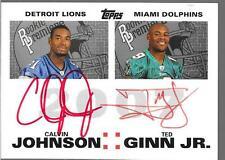 2007 Topps - CALVIN JOHNSON Ted Ginn Jr  BOWE Meachen Red Ink Autograph RC /10