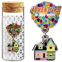 Disney Store Pixar UP Balloons House Pin Glass Bottle Russell Carl Doug Parks