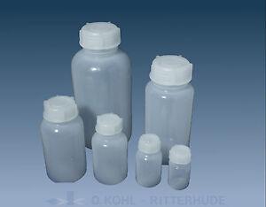 Weithalsflaschen Laborflasche PE Kunststoff Plastik rund Flasche mit Deckel