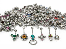 14g Galaxy Mix - Bag of 100 Jeweled Belly Button Rings