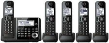 Panasonic KX-TGF345B DECT 6.0 5 Cordless Phones w/Call Block & Talking Caller ID