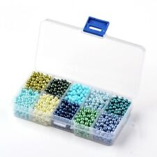 50 Stück Pastel Glas Perlen Schmuck 6 mm Zubehör Bastelset Basteln neu