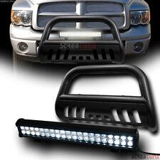 Hammer Blk HD Bull Bar Bumper Guard+120W Cree LED Fog Light 02-05/03+ Dodge Ram