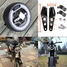 6.8 inch White Aperture Motorcycle Moped LED headlights & Lamp Bracket Universal