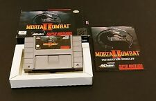 Mortal Kombat II (Super Nintendo Entertainment System, 1994) SNES Complete Boxed
