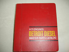 Detroit Diesel MASTER PARTS CATALOG V-71 Engines Service Shop Manual OEM N 2V 4V