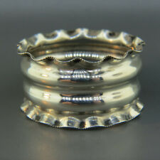 1897 English Sterling Silver Napkin Ring