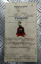 Genuine 1952 Vintage British Army Inspectorate of Stores Metal Badge Sample Card