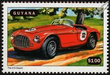 FERRARI 212 EXPORT Race Car Mint Automobile Stamp (1998 Guyana)