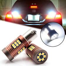 7506 1156 CK 6000k Bright White LED Reverse Backup Light Bulbs for BMW Mercedes