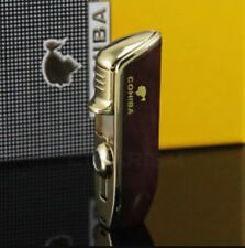 Cohiba Triple Jet Lighter In Gift Box- Men's Cigar Lighter- Mahogany.