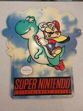 Nintendo Super Mario Yoshi SMW Sign Store Display Advertisement