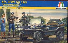Italeri 0313 1/35 Scale Model Kit WWII German Kfz.II VW Typ 166 Schwimmwagen