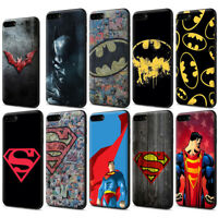 Superman Batman Black Soft TPU Case for iPhone 11 Pro XR XS Max X 8 7 6 6S Plus