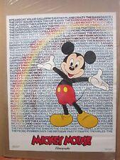 vintage Walt Disney FILMOGRAPHY mickey Mouse Poster original  NICE 11985