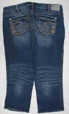 SILVER BRAND  Womens Plus Size 20  AIKO CAPRI Denim Cropped Jeans  #635