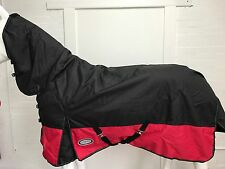 AXIOM 1200D RIPSTOP WATERPROOF BLACK/RED 300g HORSE COMBO RUG - 6' 0