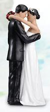 Tender Love Romantic Embrace Hispanic Couple Resin Wedding Cake Topper