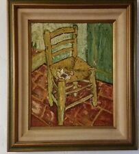 "20TH CENTURY OIL PAINTING ""AN ARTIST'S CHAIR"" FRAME SIZE 24WX28H"