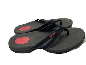 Teva Flip Flop Sandals Brown Strap Size 6