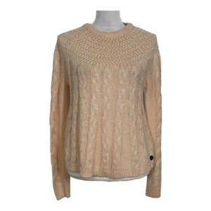 Hollister Womens Sweater Crew Neck Long Sleeve Cable Knit Top Ladies Size Small
