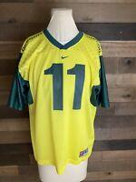 Oregon Ducks Diamond Plate Kellen Clemens Football Jersey Nike Mens Large