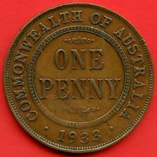 1933 Australia 1 Penny Coin