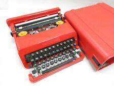 Olivetti Valentine Typewriter with Case Red RARE Vintage work Made in Spain