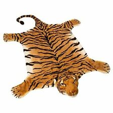 "BRUBAKER Realistic Brown Plush Tiger Rug 78"" x 47"""
