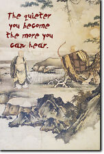 """ZEN QUOTE POSTER """"The Quieter You Become..."""" PHOTO PRINT BUDDHISM"""