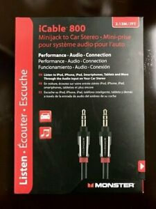 New  iCable 800 Minijack to Car Stereo 2.13 M / 7 FT