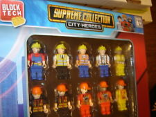 Block City-Heroes Set 20 Figures 2 Inches Each, Best Gift for Kids Holidays, New