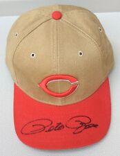 70e904c93e7d4 Pete Rose autografiada Ajustable Gorra de béisbol con logotipo bordado   14  Cincinnati Reds