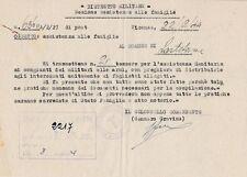 § RSI VICENZA 1944 - Assistenza sanitaria alle famiglie di Lastebasse