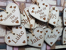 Engraved personalised Heart Wedding favours
