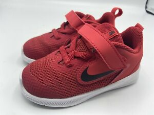 Nike Kids' Downshifter 7c Red Black White Shoes AR4137-600 Original New