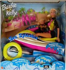 Sea Splashin' Barbie and Kelly Dolls with Watercraft (New)